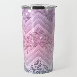 Unicorn Glitter Chevron #1 #pastel #shiny #decor #art #society6 Travel Mug