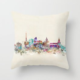 rome skyline vintage Throw Pillow
