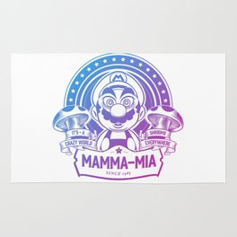 Mamma Mia Super Mario is-a Crazy Rug