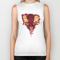 borderlands Biker Tanks featuring fiona the vault hunter by hydrae