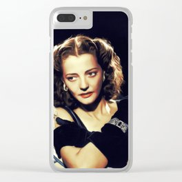 Sylvia Sidney, Vintage Actress Clear iPhone Case