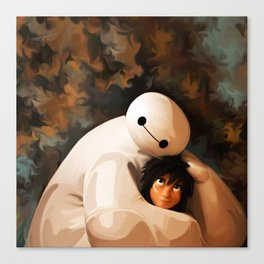 Baymax Love Canvas Print