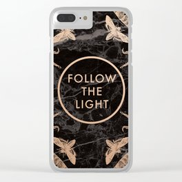 Society6 Follow the Light Quote Clear iPhone Case