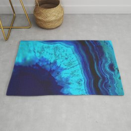 Royal Blue Turquoise Agate Rug