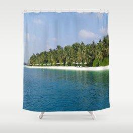 Palm Beach - Maldives Shower Curtain