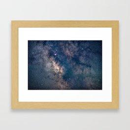Milky Way Core Framed Art Print