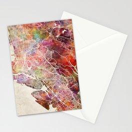 Oakland map Stationery Cards