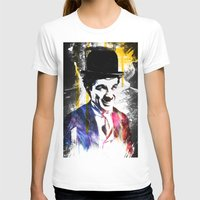 charlie chaplin T-shirts featuring charlie chaplin by manish mansinh