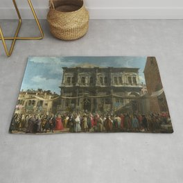 The Feast Day of St Roch by Canaletto Rug