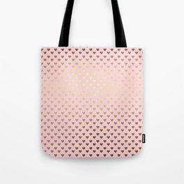Princesslike - pink and gold elegant heart ornament pattern Tote Bag