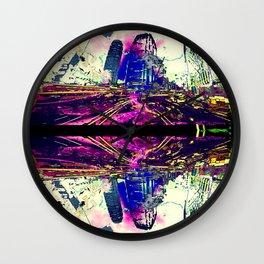 The Neon Glory of Pride City Wall Clock