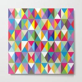 Mid Century Modern Colorful Triangle Print Metal Print