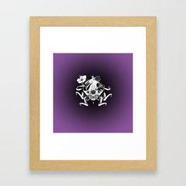 The Skull the Flowers and the Snail Framed Art Print