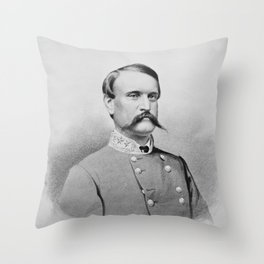 General John Breckinridge Portrait - Civil War Throw Pillow