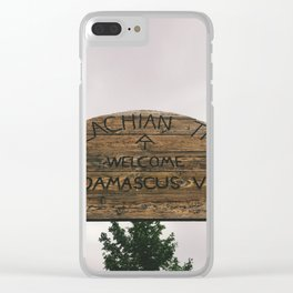 Welcome To Damascus • Appalachian Trail Clear iPhone Case