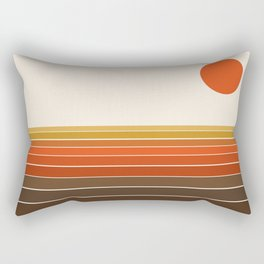 Peace Out - sunset ocean surfing beach life 70s style retro 1970s design Rectangular Pillow