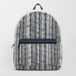 Bamboo Forest Pattern - Grey Blue White Backpack