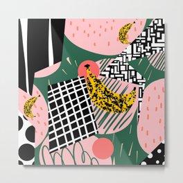 Abstract Bananas Metal Print
