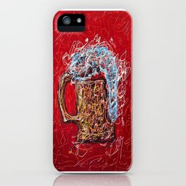 Abstract Beer - Inspired By Pollock  #society6 #wallart #buyart by Lena Owens @OLena Art iPhone Case