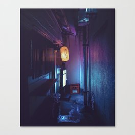 Tokyo Nights / Lonely Lantern / Liam Wong Canvas Print
