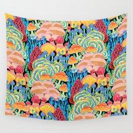 Fungi World (Mushroom world) - BKBG Wall Tapestry