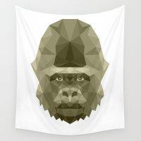 gorilla Wall Tapestries featuring Gorilla by Carma Zoe