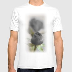 A Black Rose for your Sweetheart White MEDIUM Mens Fitted Tee