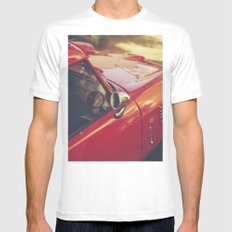 Fine art print, red supercar details, high quality photo, deep of field, macro, triumph spitfire White Mens Fitted Tee MEDIUM