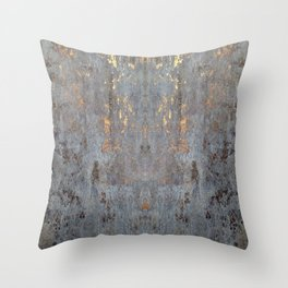 GOLDEN CONCRETE SLAB Throw Pillow
