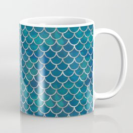 Ocean Mermaid Scales Coffee Mug