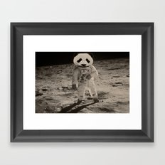One Small Step For Man, One Giant Panda For Mankind Framed Art Print