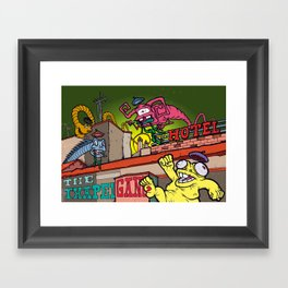 The Txapela Gang Framed Art Print