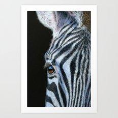 Zebra Detail Art Print