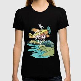 Road Trip Outdoor Adventure Propeller Sky T-Shirt - Design Illustration Print Artwork Gift Idea Tee T-shirt