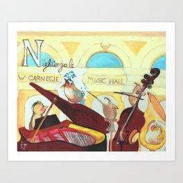 N for Nightingale - Alphabet City Art Print