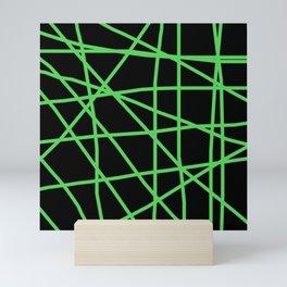 Doodle (Green & Black) Mini Art Print