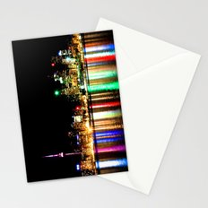 Toronto Skyline At Night From Polson St No 1 Stationery Cards