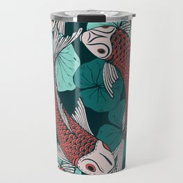 Japanese carpes decoration pattern Travel Mug
