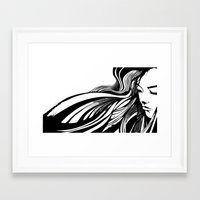 asian Framed Art Prints featuring Asian by Alevan