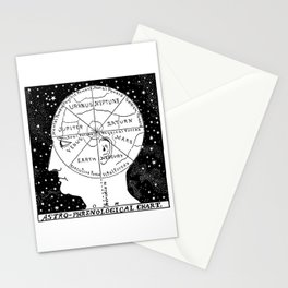 Astro Phrenological Chart Stationery Cards