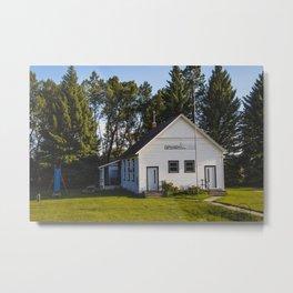 Springhill School, Springhill, Montana Metal Print