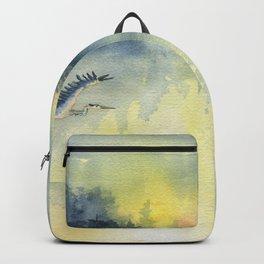 Flying Home - Great Blue Heron Backpack
