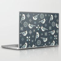 calendars Laptop & iPad Skins featuring Petit Birds by Poppy & Red
