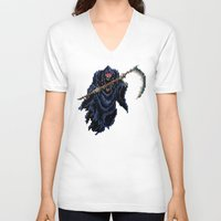 castlevania V-neck T-shirts featuring Trick or Treat by VGPrints