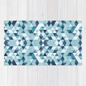 Indigo Blue Watercolor Triangles Pattern by pelaxy