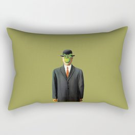 In the style of Magritte Rectangular Pillow