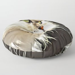 White Persian Cat Floor Pillow