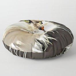 White Persian Cat Floor Pillow