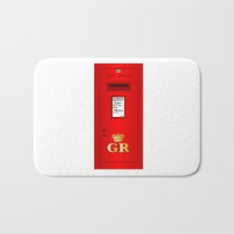 Traditional British  Georges Reign Postbox Bath Mat