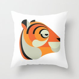 Minimalistic wildlife 15 – Tiger Throw Pillow